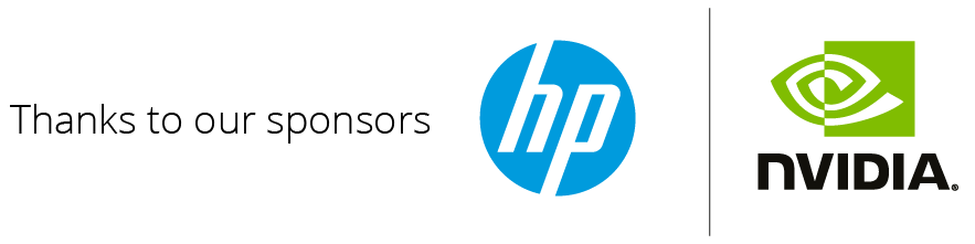 Thanks to our sponsors HP and Nvidia