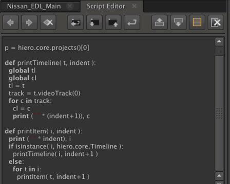Hiero Python Scripting